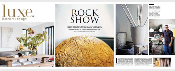 Luxe Interiors & Design Feature on Mitch Brean