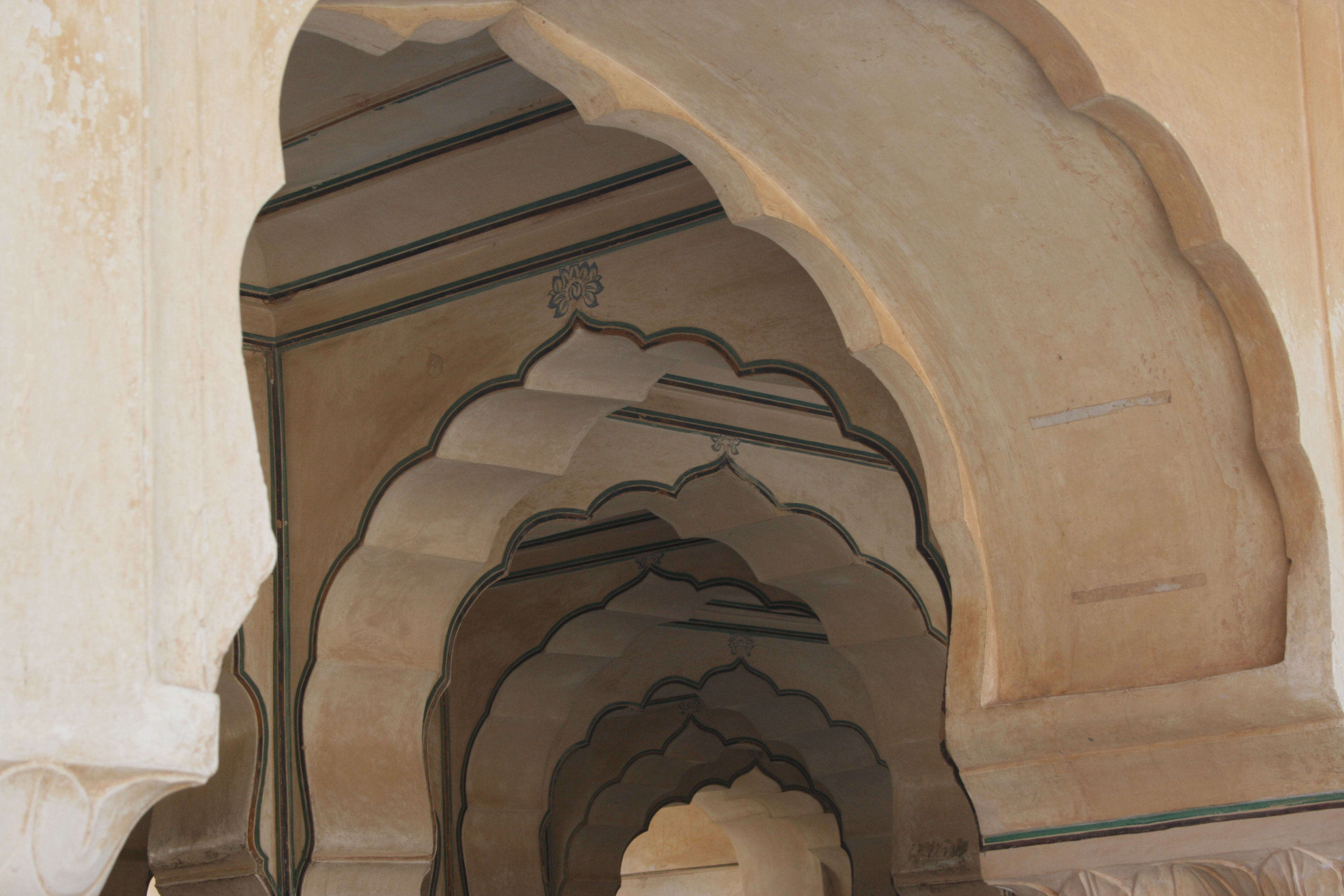 Hand-Carved Colonnaded Arches