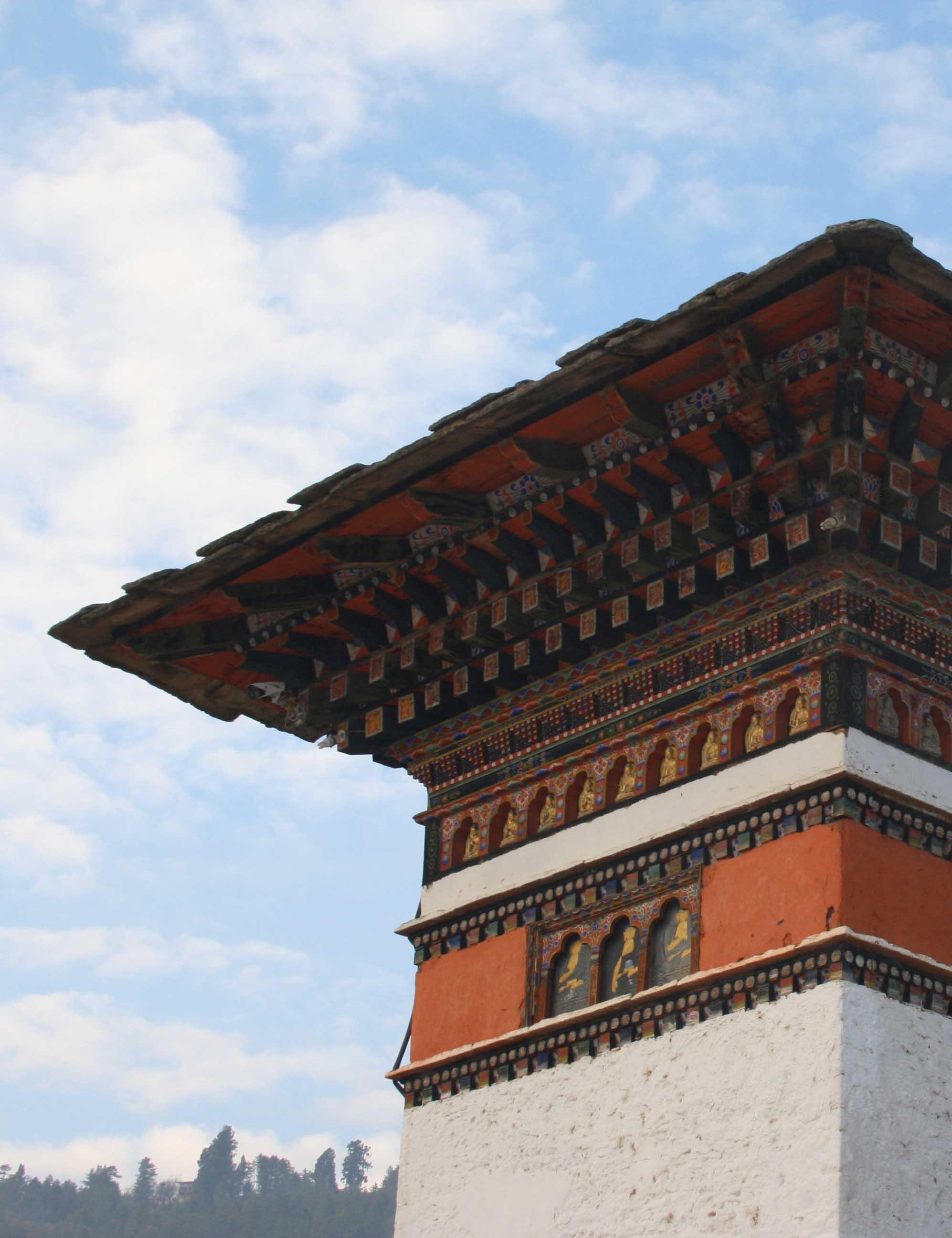 Temple Detail in Bhutan
