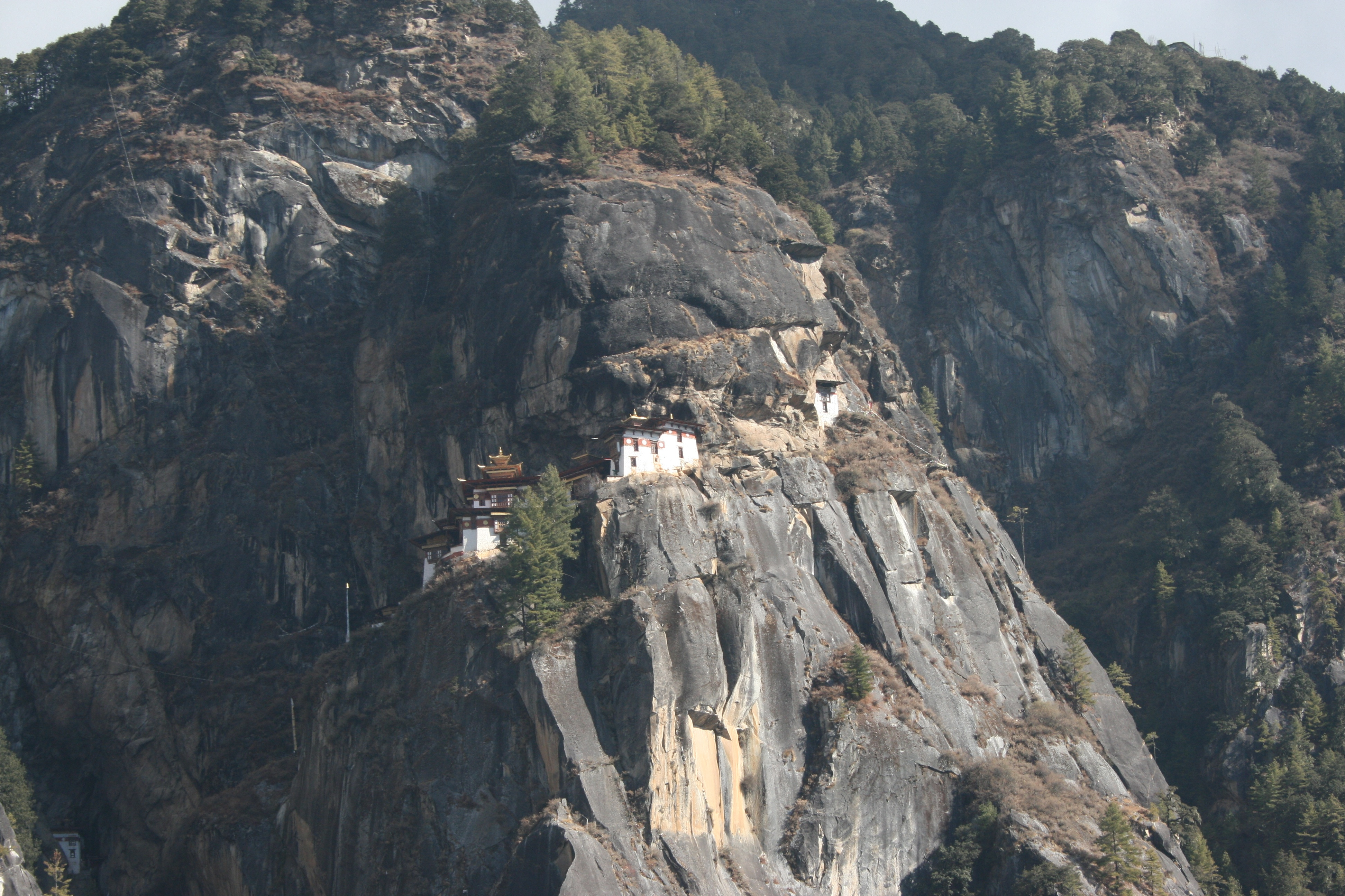 Cliffside Temple in Bhutan