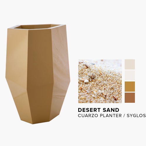 Cuarzo Planter in the NEW Desert Sand Syglos Finish