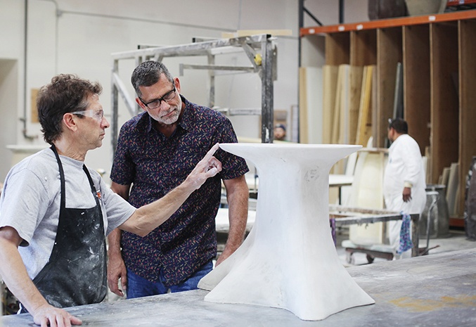 Our Designer & Sculptor Collaborating on the Arbo Side Table