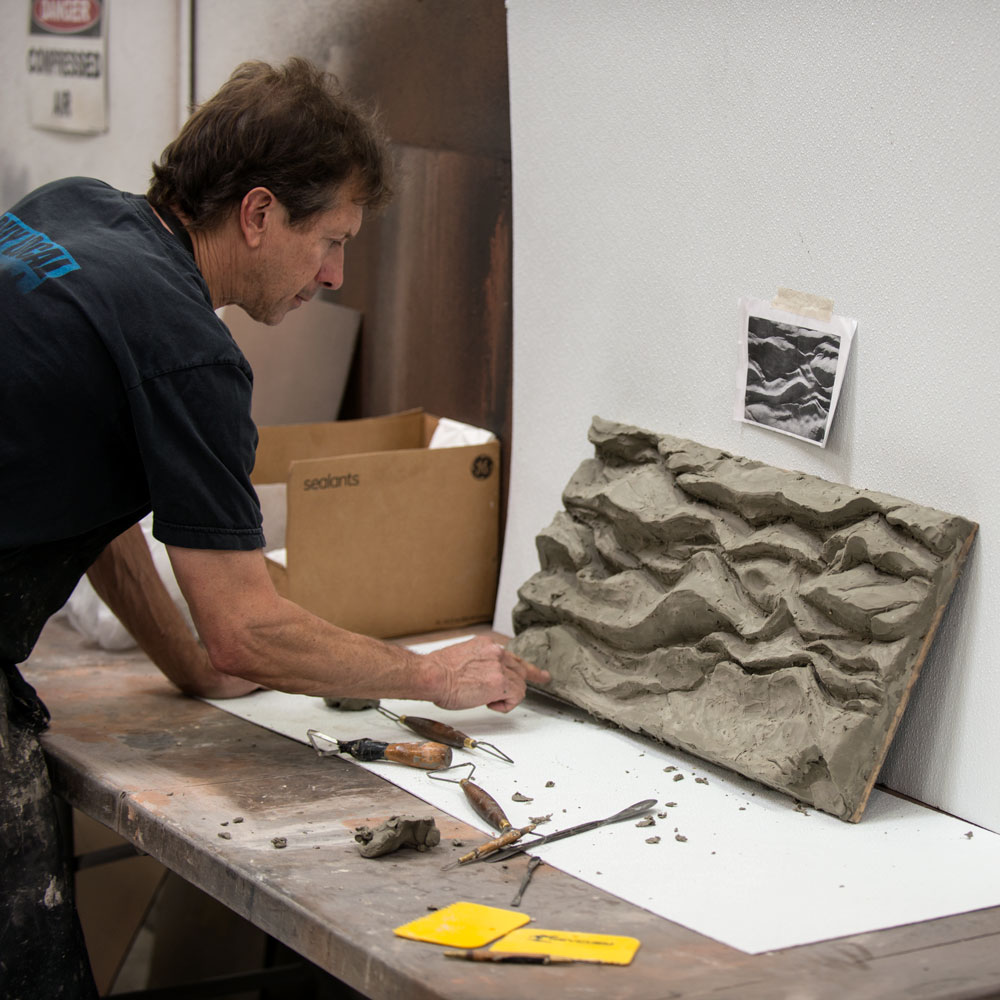 Our Master Sculptor Carving a New Texture