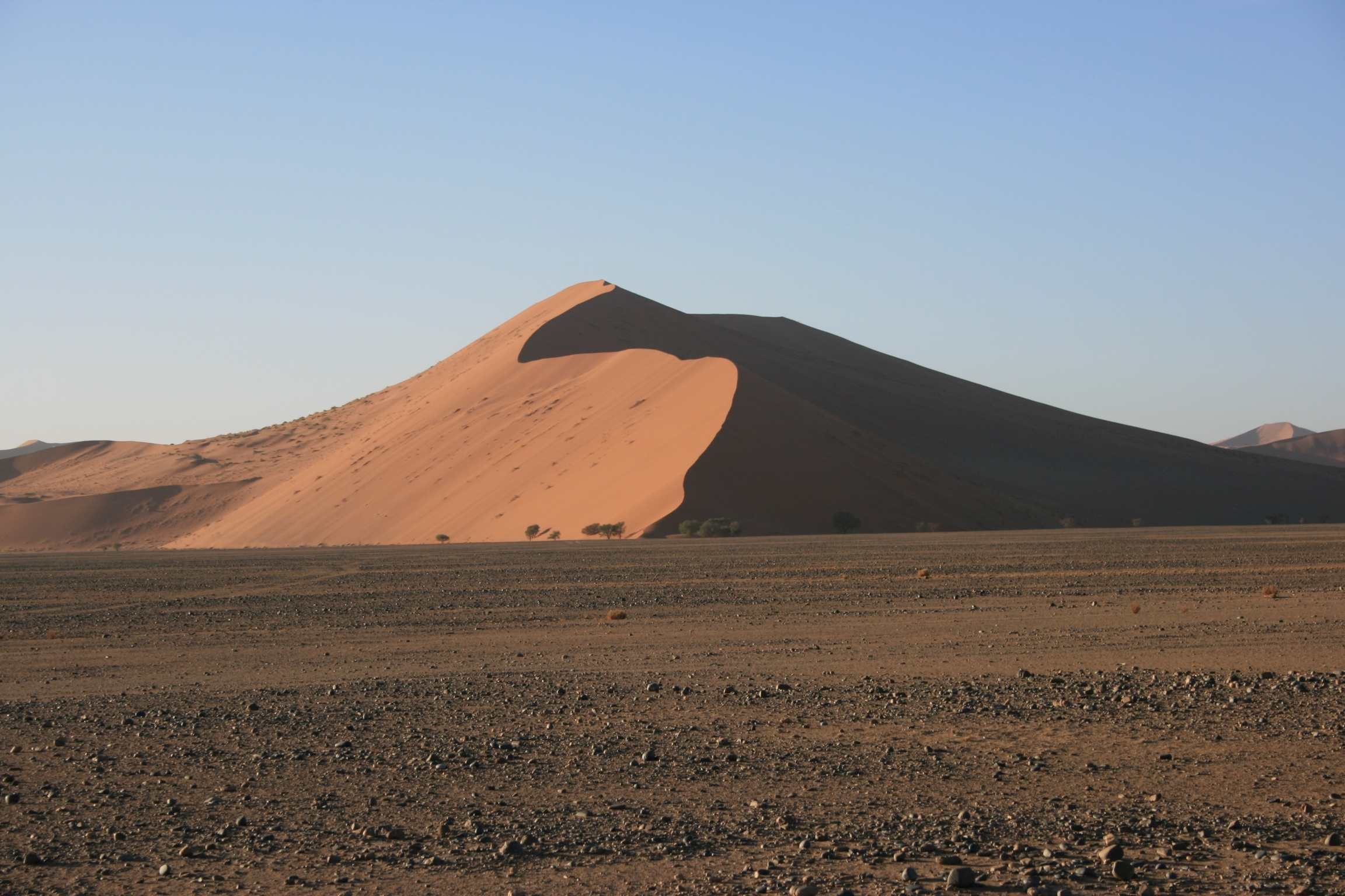 Light and Shadow on an African Sand Dune