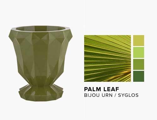 Bijou Urn in the NEW Palm Leaf Syglos Finish
