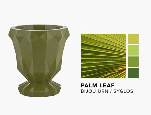 Bijou Urn in the NEW Palm Leaf Syglos Finish